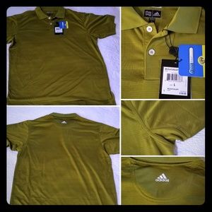 Olive Green Golf Shirt by Adidas -LARGE, UPF 15+